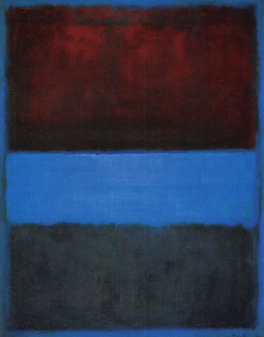 Rothko Rust and Blue